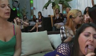 Dancing Bear and other strippers give cocks to amateur hotties