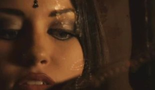 Beautiful brunette from bollywood teases you