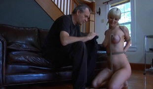 Blond bitch in the mask is going insane in this fetish porn perform