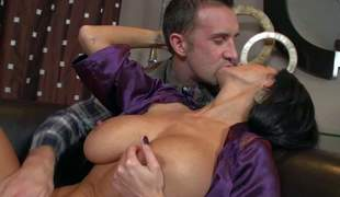 Dark haired gorgeous MILF Ava Addams with huge boobs spreads her long legs there and nice chiefly the couch and gets her yummy pussy French kiss screwed by guy out of control Keiran Lee. Her erotic body turns him chiefly badly!