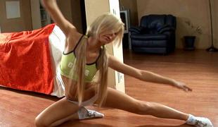 blonde flexible panties