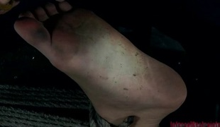 Beauty is acquiring extreme torturing for her captivating feet