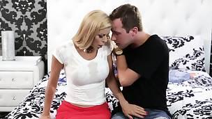big cock blonde blowjob