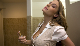 Long haired secretary friendliness over and fucked