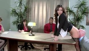 Big Tits at Work: Nailing The Presentation. Stephani Moretti, Johnny Sins