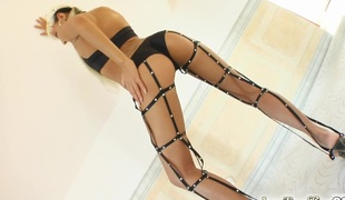 Timi is the flawless speciment to take in the wazoo. This Babe has a flawless tanned body and a fist anal opening. Three guys bang her up  rubberneck her and destroy her wazoo.