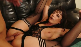 Dana DeArmond and Mr. Pete fuck pussy and ass in american sex video